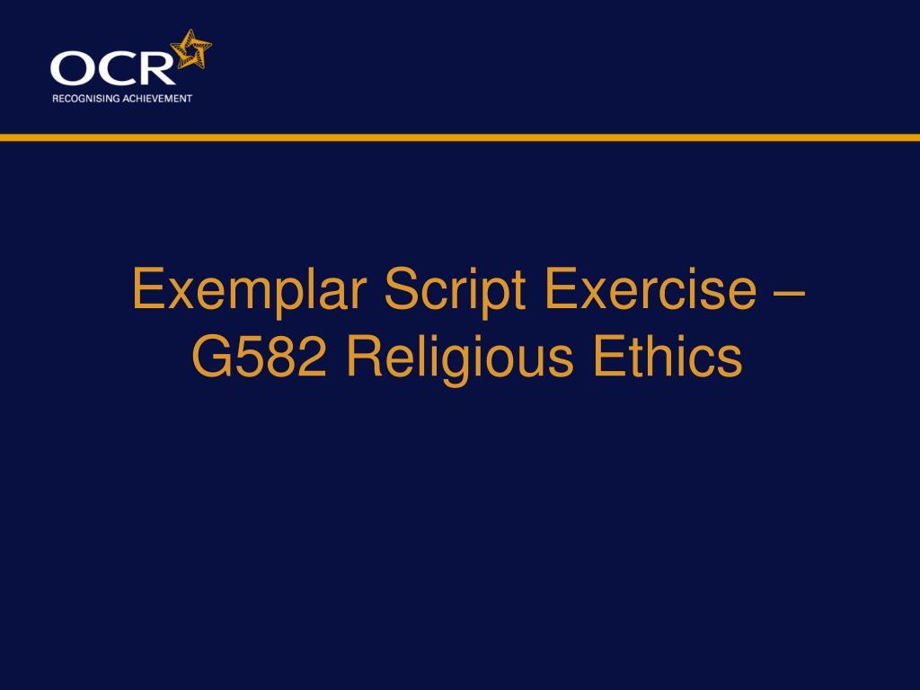 Exemplar Script Exercise –