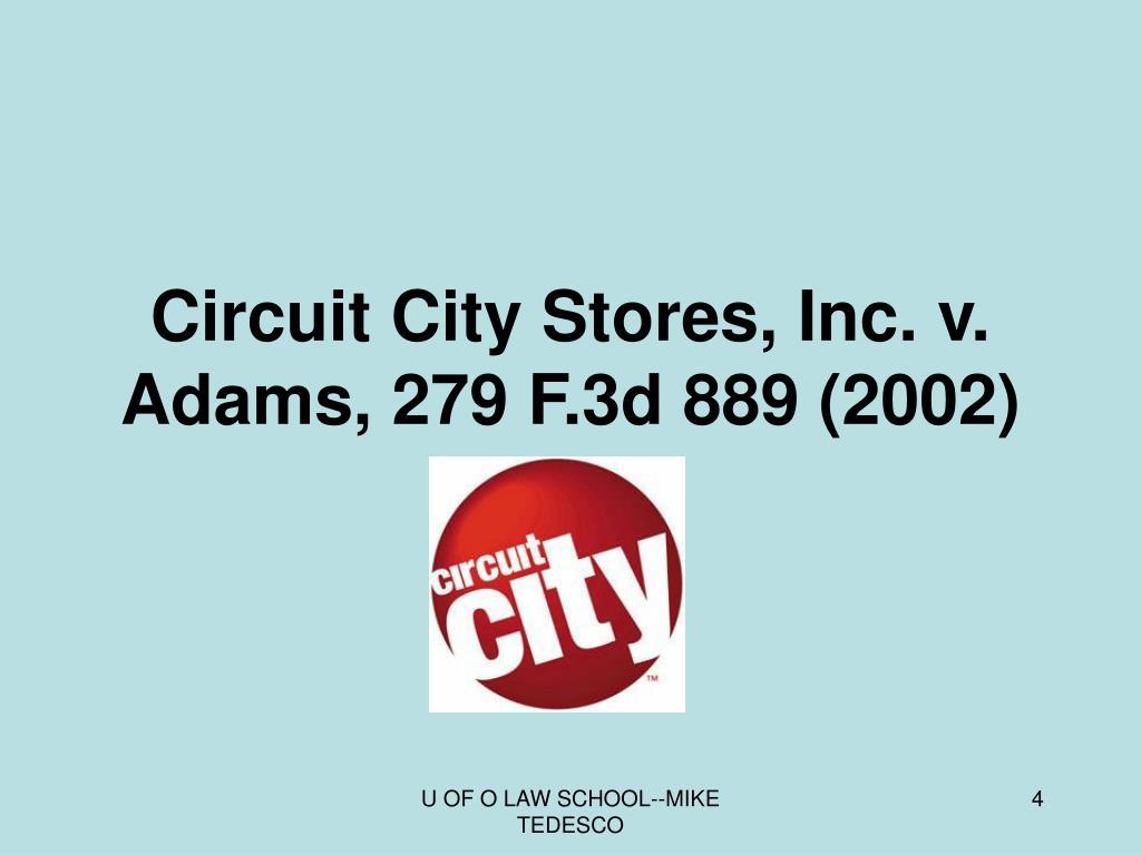 Circuit City Stores, Inc. v. Adams, 279 F.3d 889 (2002)