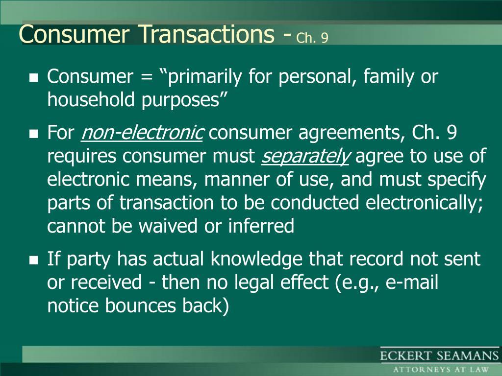 Consumer Transactions -
