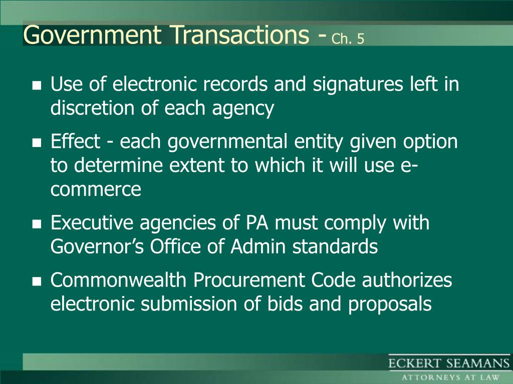 Government Transactions -