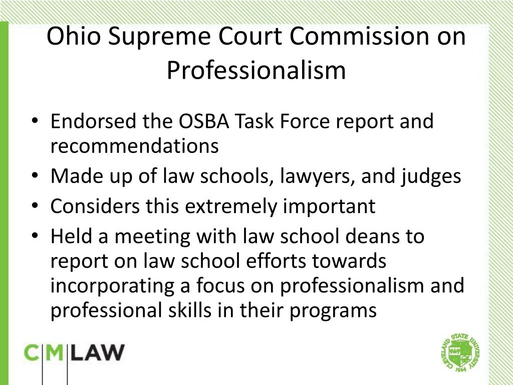 Endorsed the OSBA Task Force report and recommendations