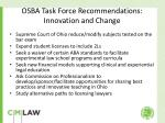 osba task force recommendations innovation and change