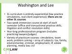 washington and lee