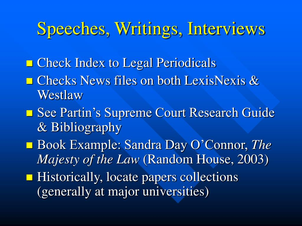 Speeches, Writings, Interviews