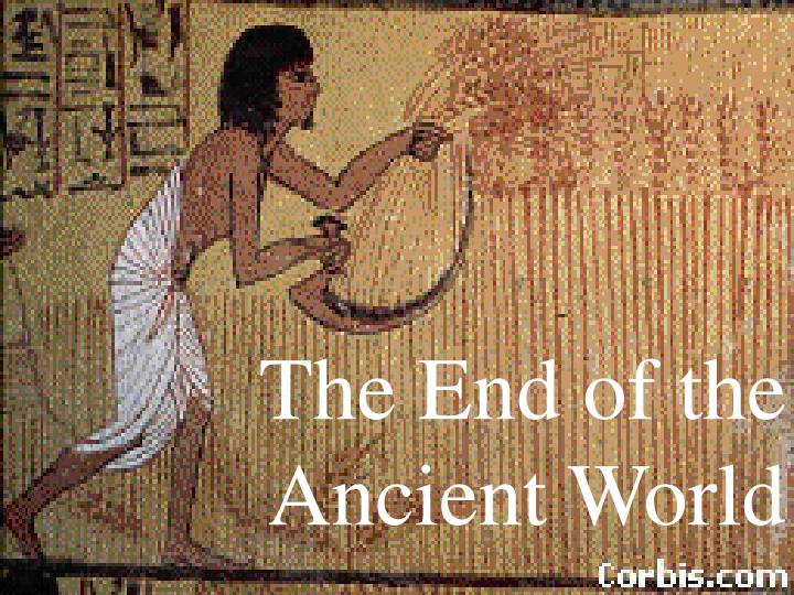 The end of the ancient world