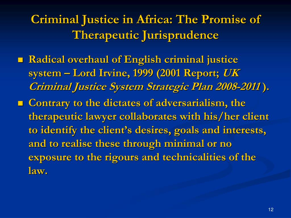 Criminal Justice in Africa: The Promise of Therapeutic Jurisprudence
