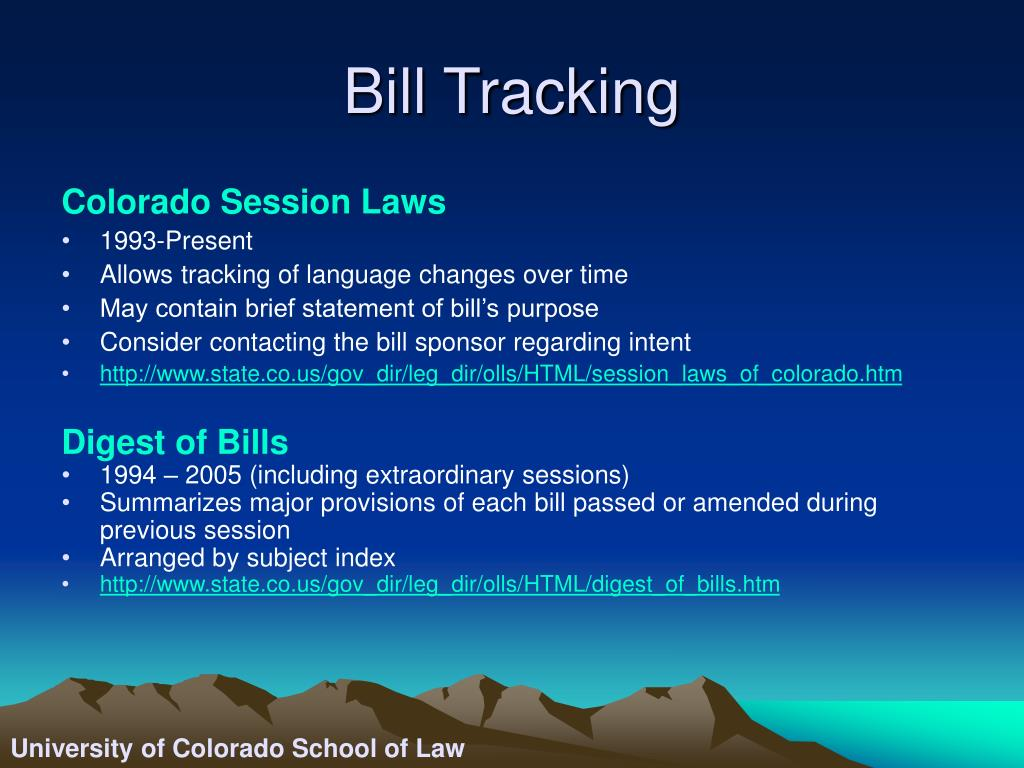 Bill Tracking