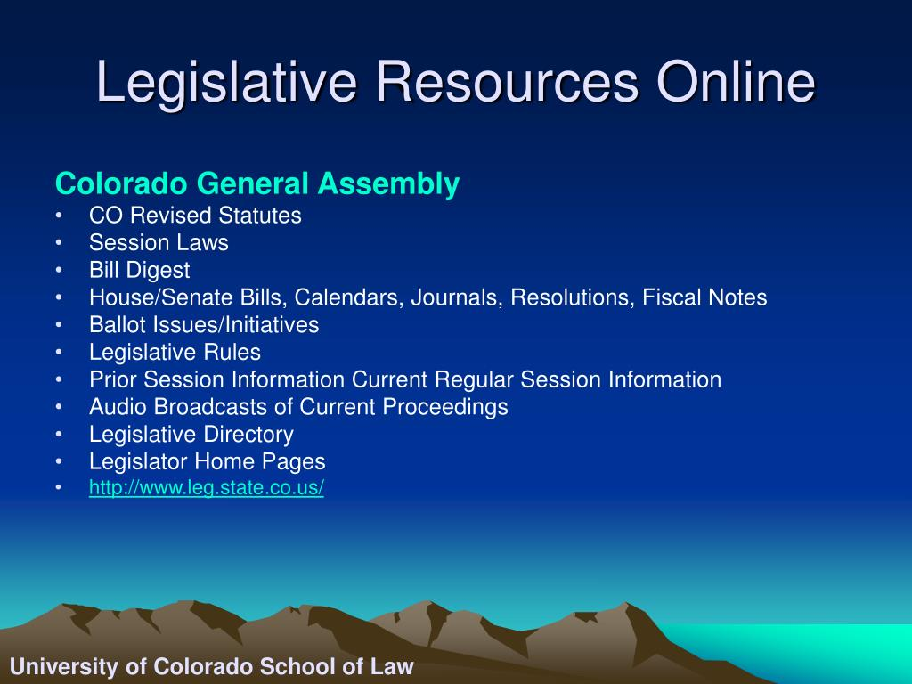 Legislative Resources Online