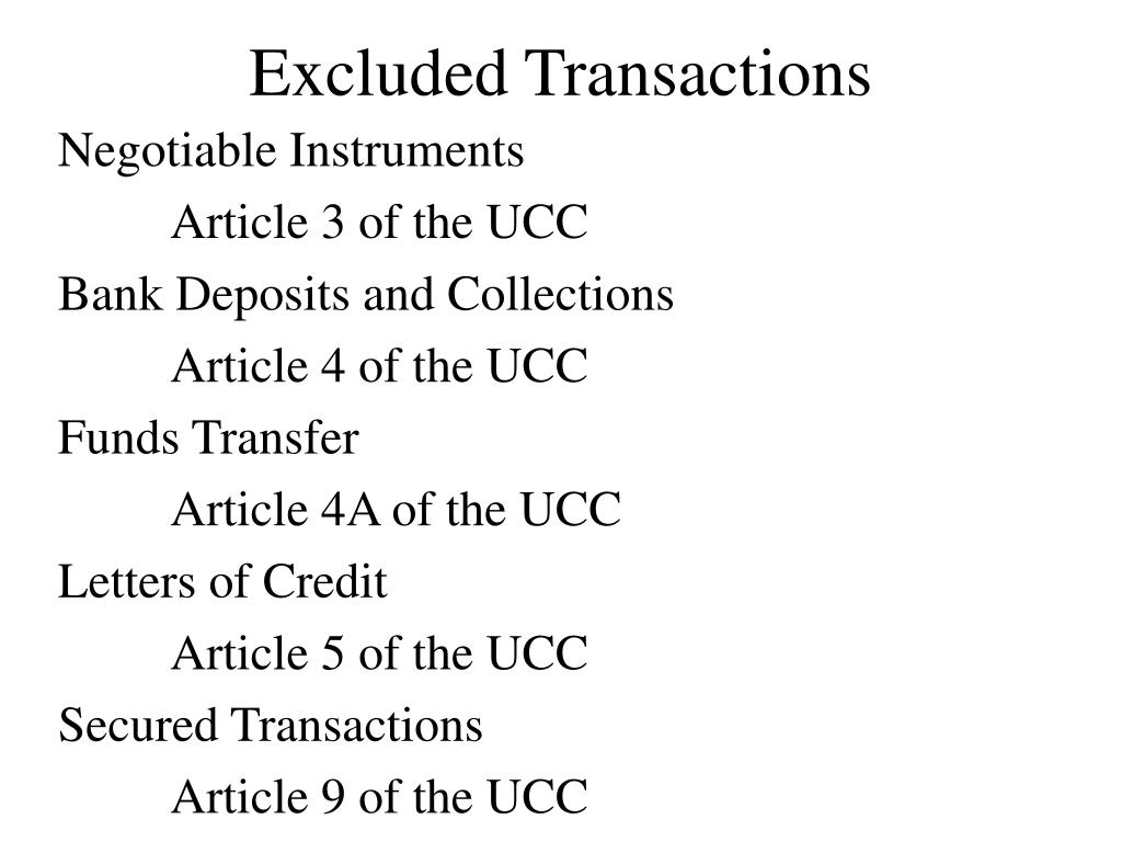 Excluded Transactions
