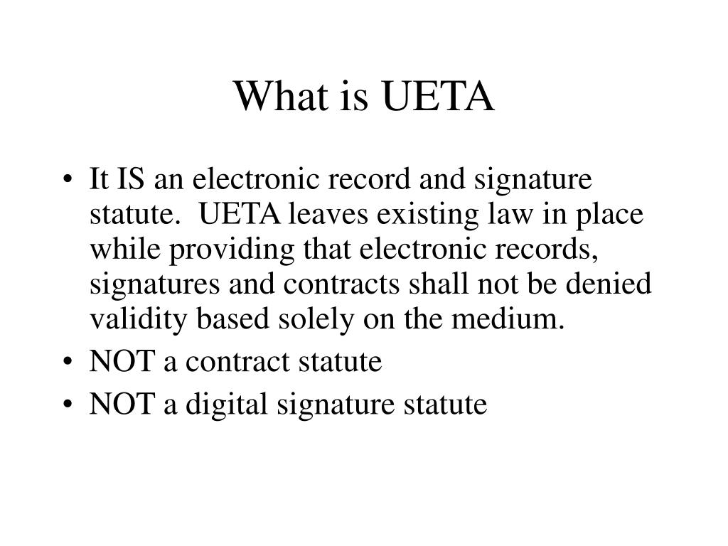 What is UETA