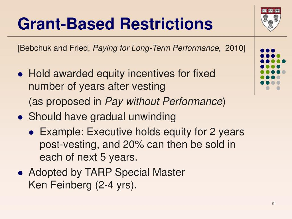 Grant-Based Restrictions