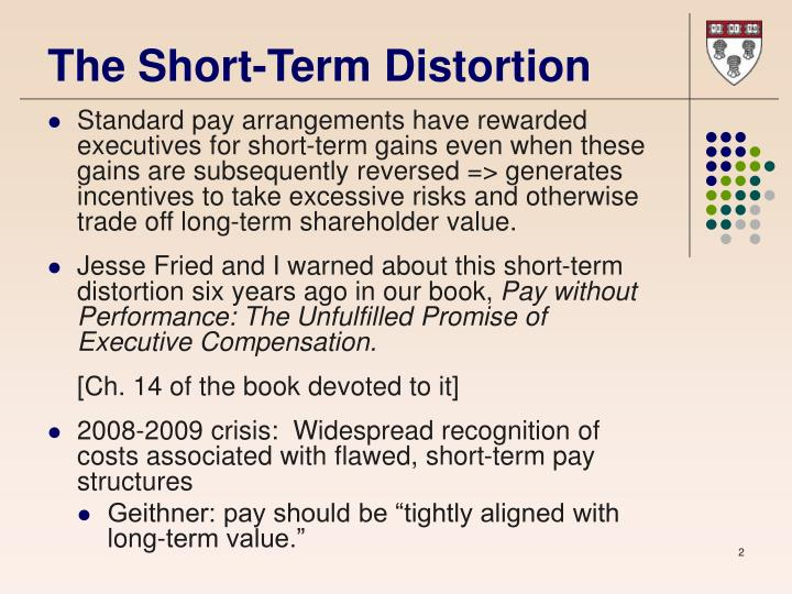 The short term distortion