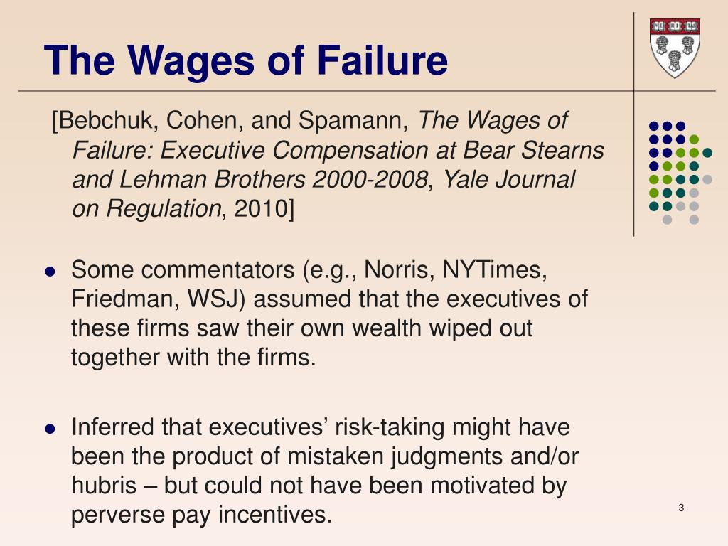 The Wages of Failure
