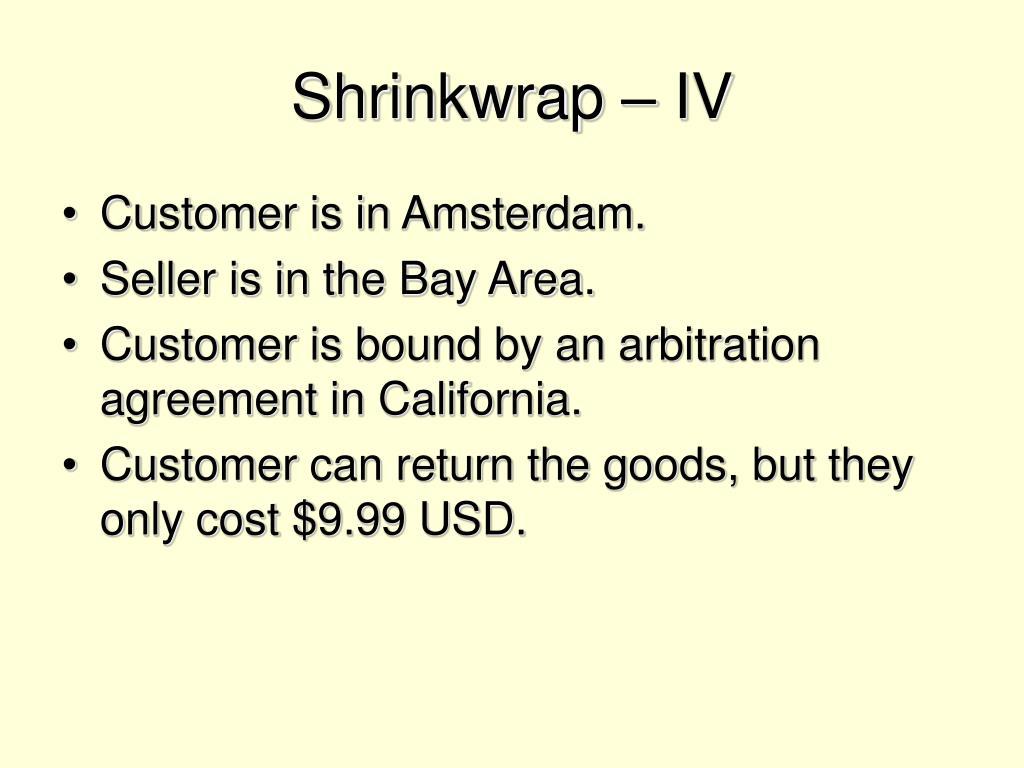 Shrinkwrap – IV