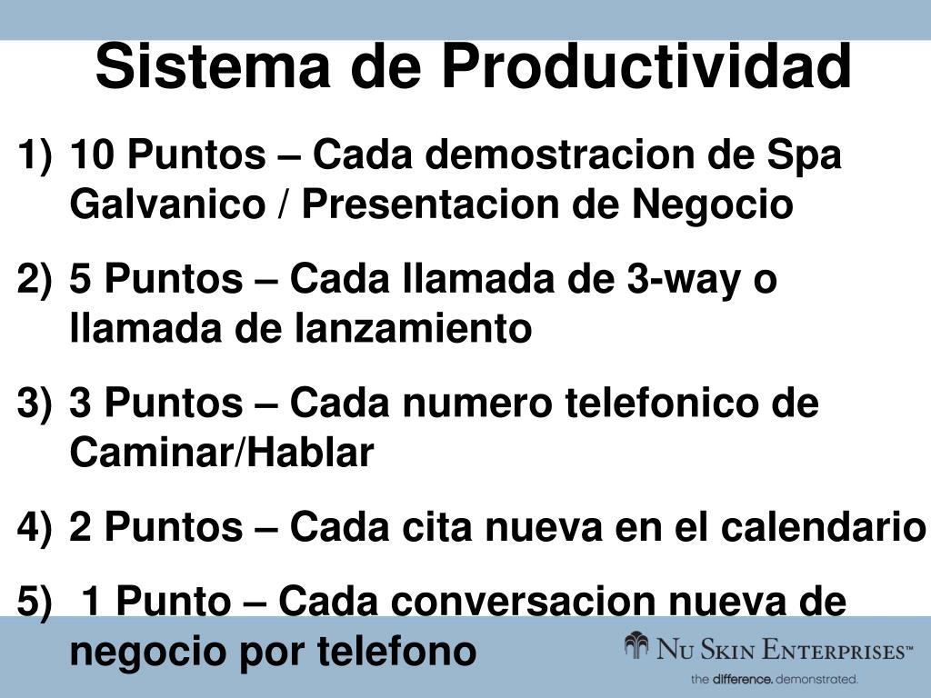 Sistema de Productividad