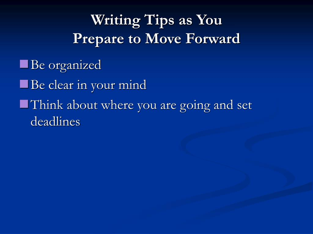 Writing Tips as You
