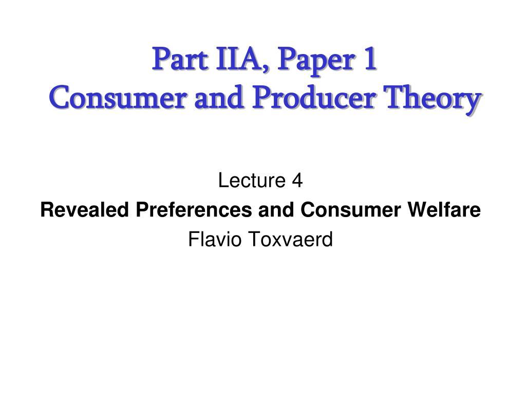 Part IIA, Paper 1