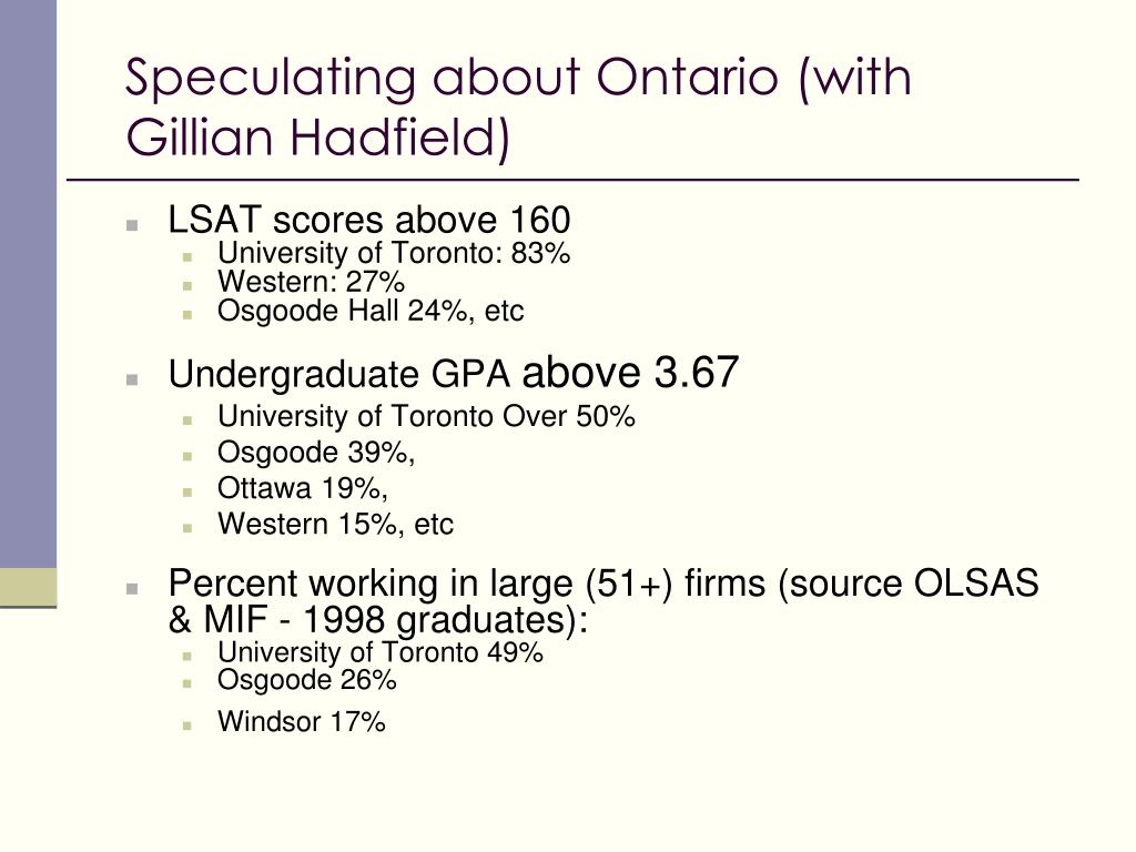 Speculating about Ontario (with Gillian Hadfield)