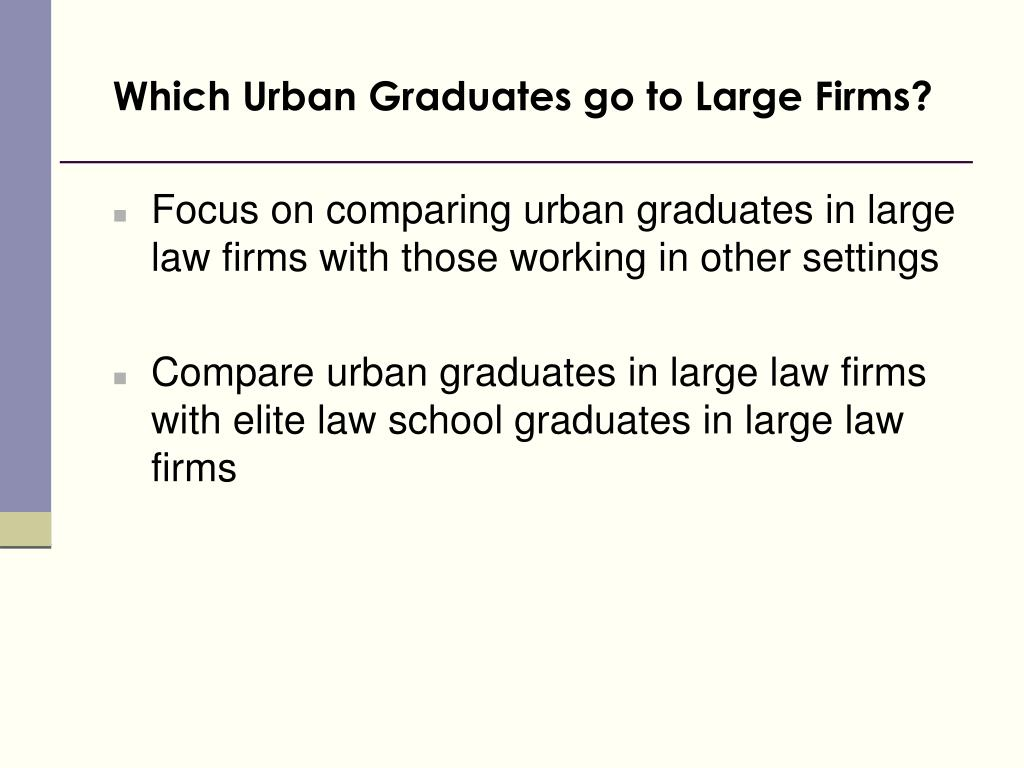 Which Urban Graduates go to Large Firms?