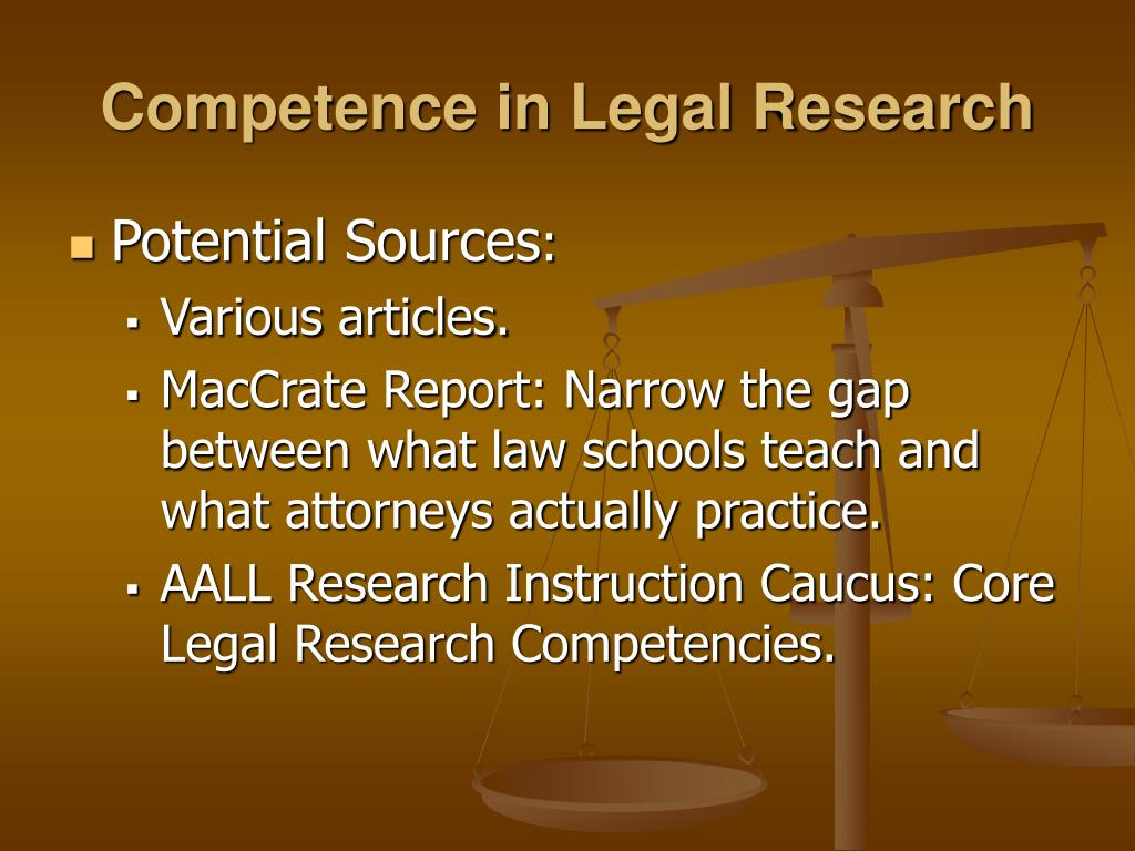 Competence in Legal Research