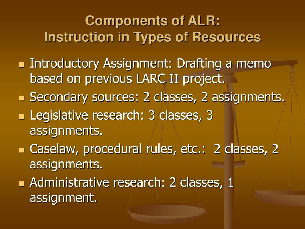 Components of ALR: