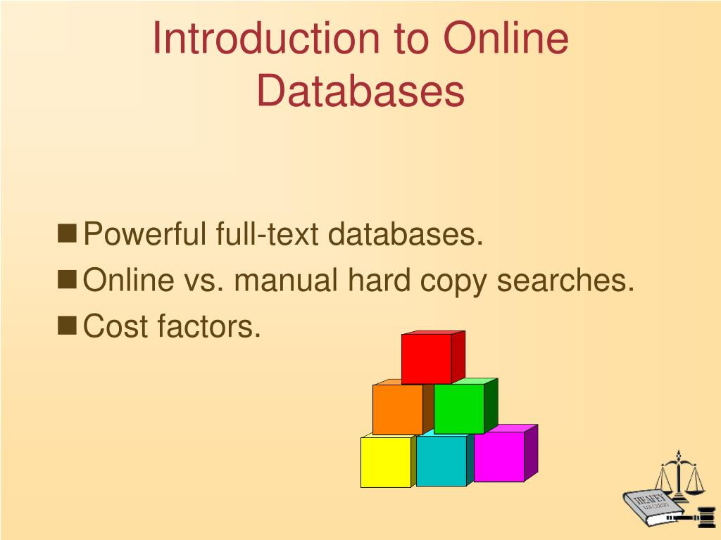 Introduction to Online Databases