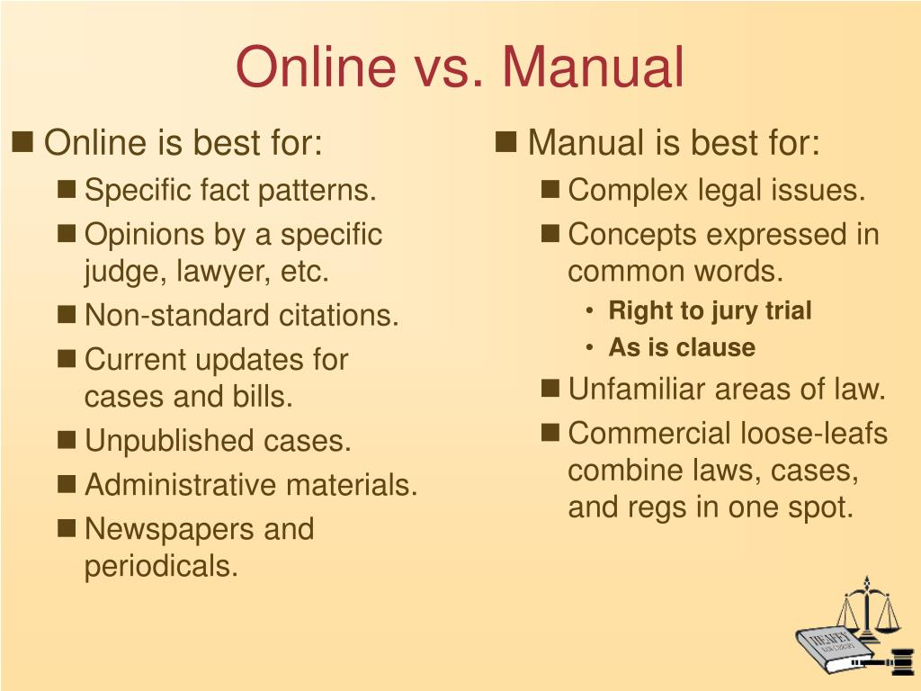 Online is best for: