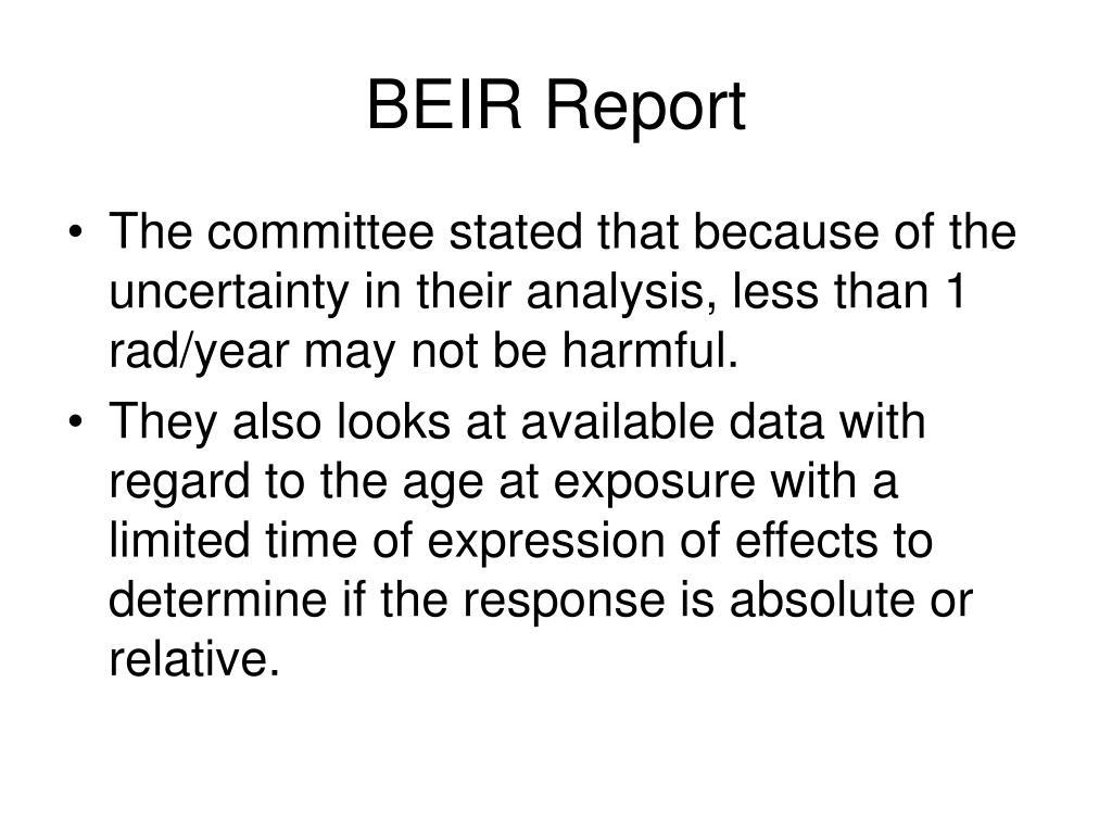 BEIR Report