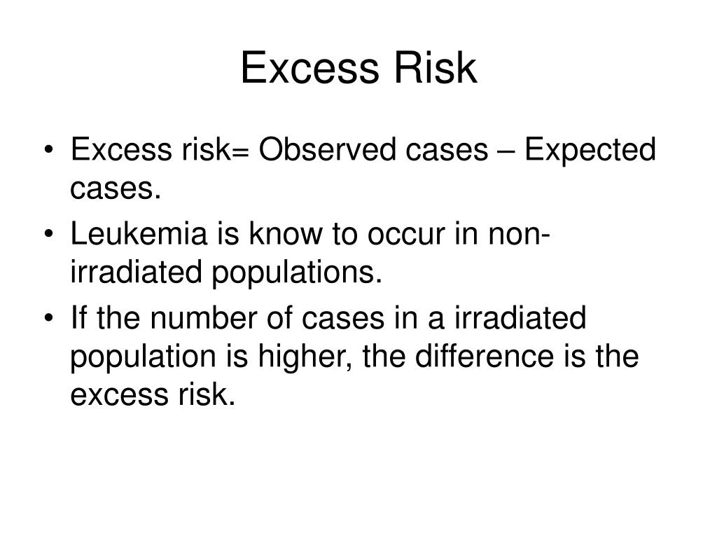 Excess Risk