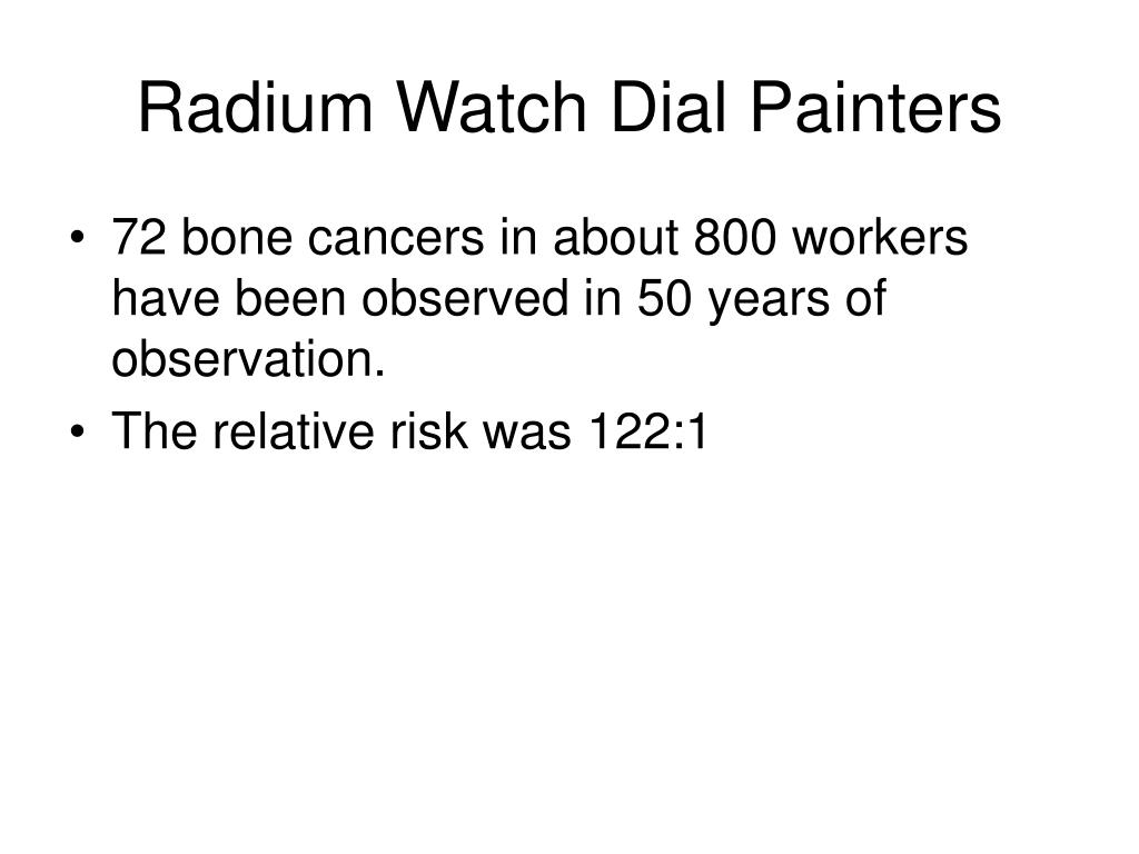 Radium Watch Dial Painters