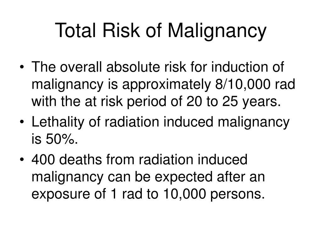 Total Risk of Malignancy