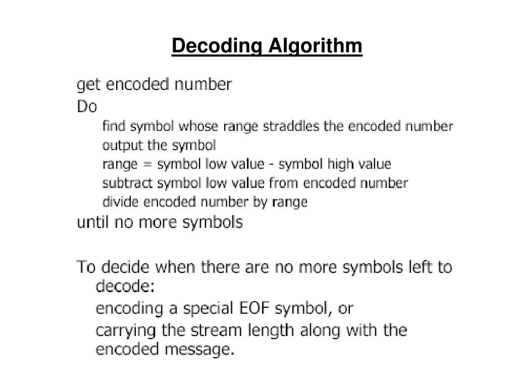 Decoding Algorithm