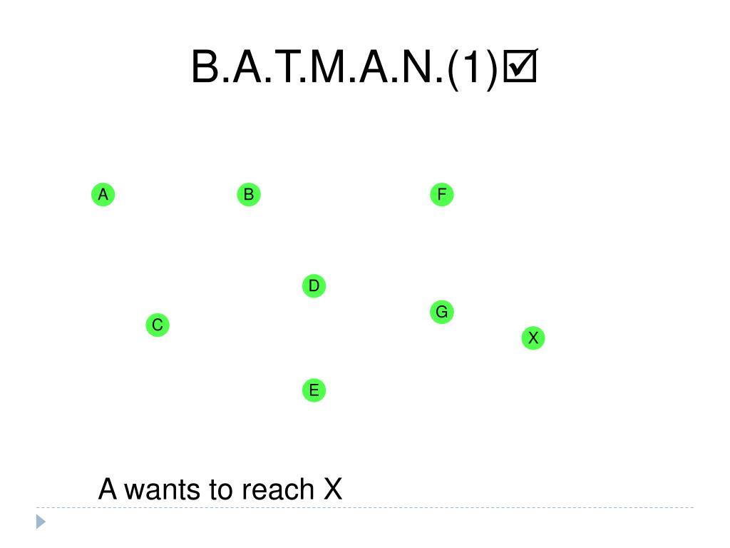 B.A.T.M.A.N.(1)