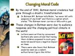 changing moral code