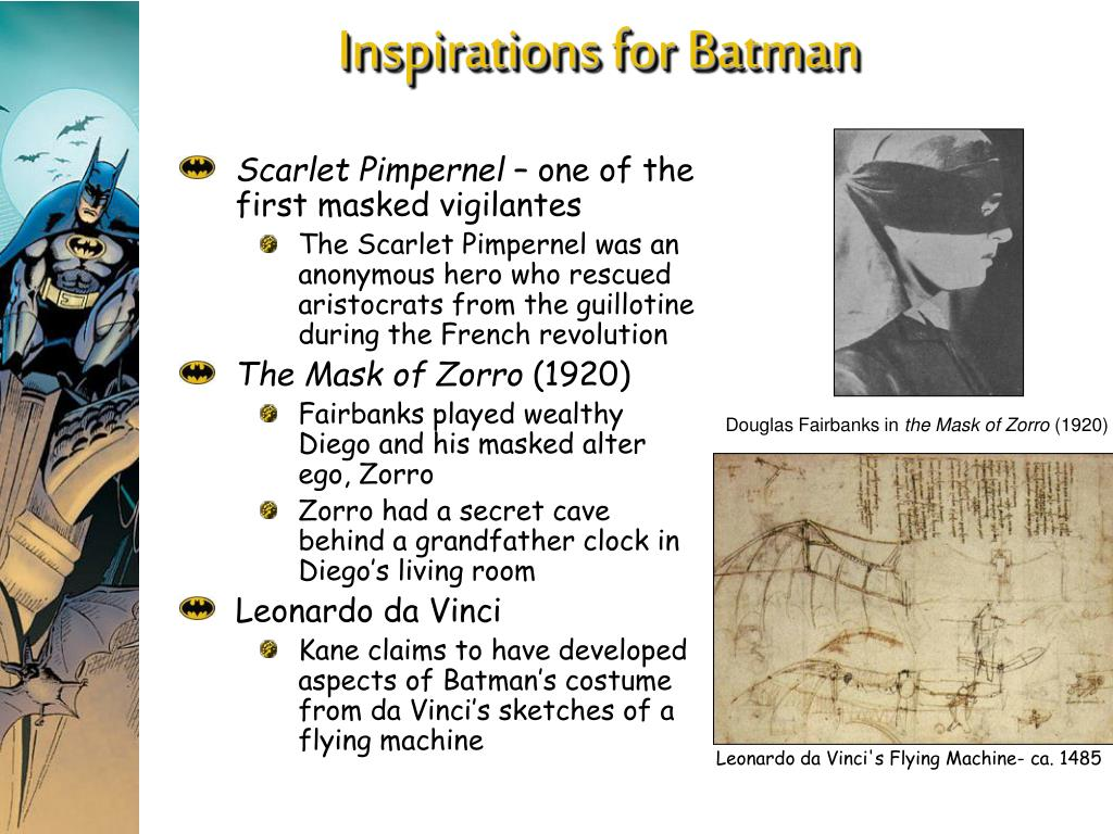 Inspirations for Batman