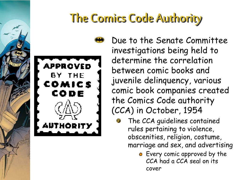 The Comics Code Authority