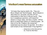 wertham s most famous accusation