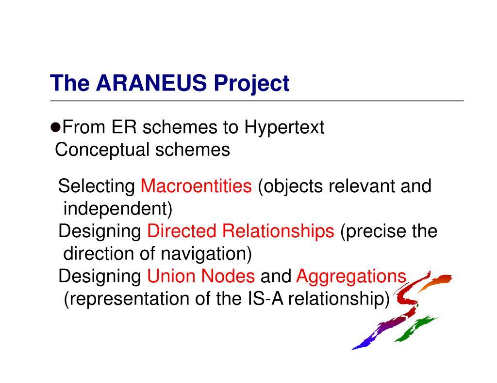 The ARANEUS Project