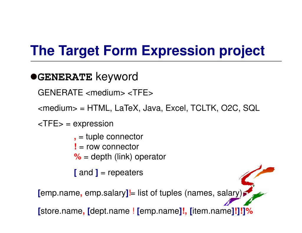 The Target Form Expression project