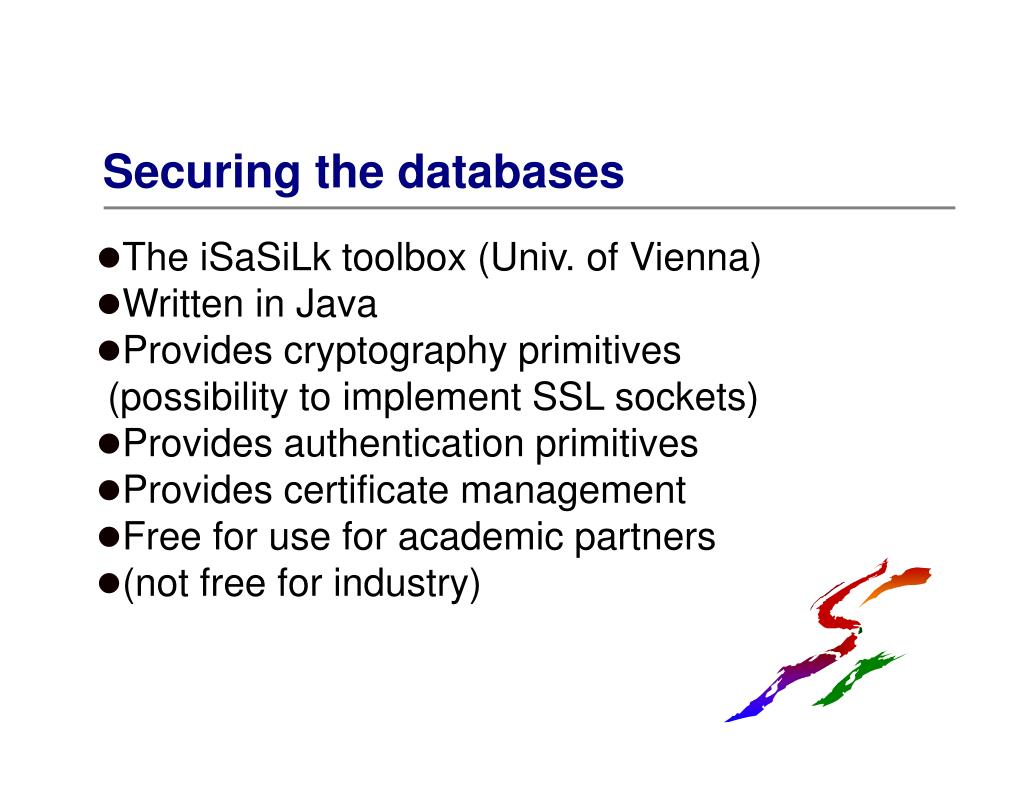 Securing the databases