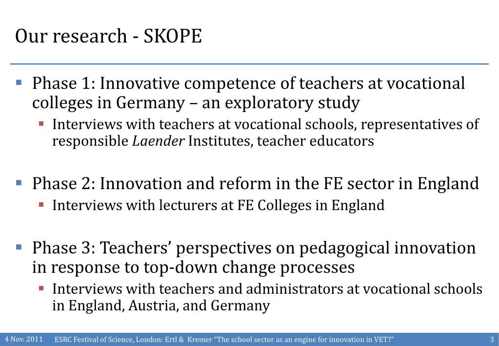 Our research - SKOPE