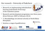 our research university of paderborn