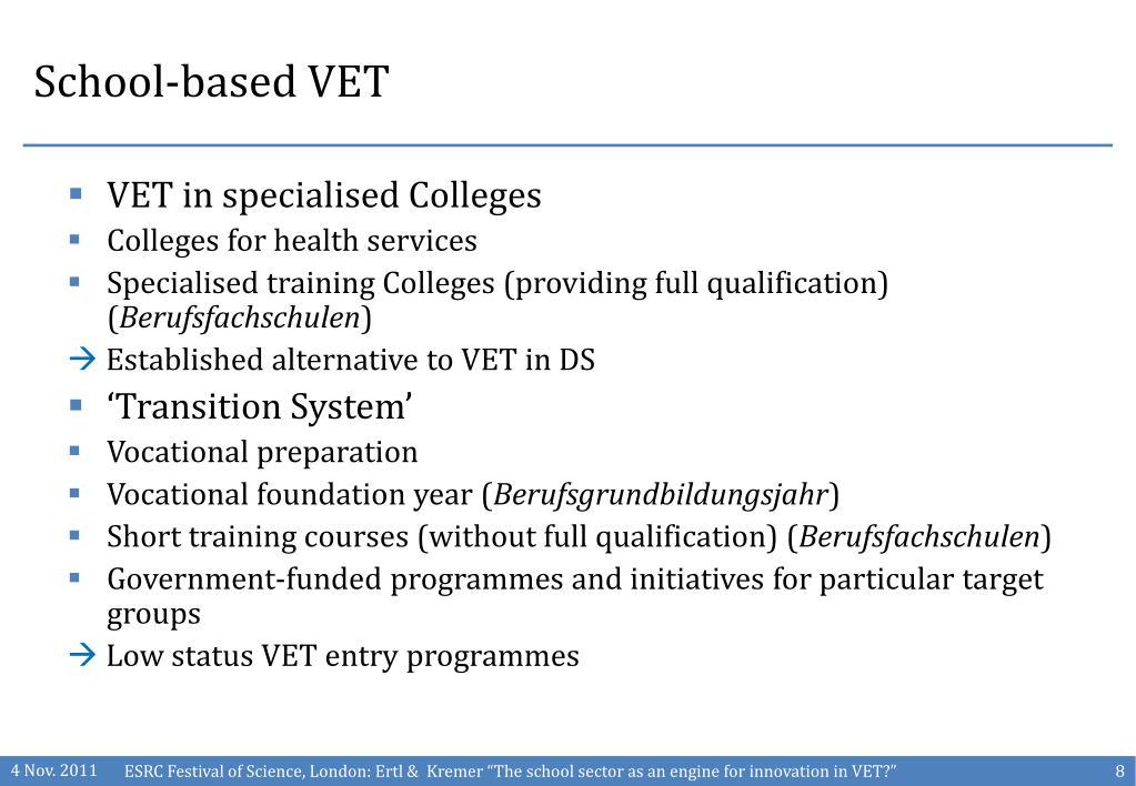 School-based VET