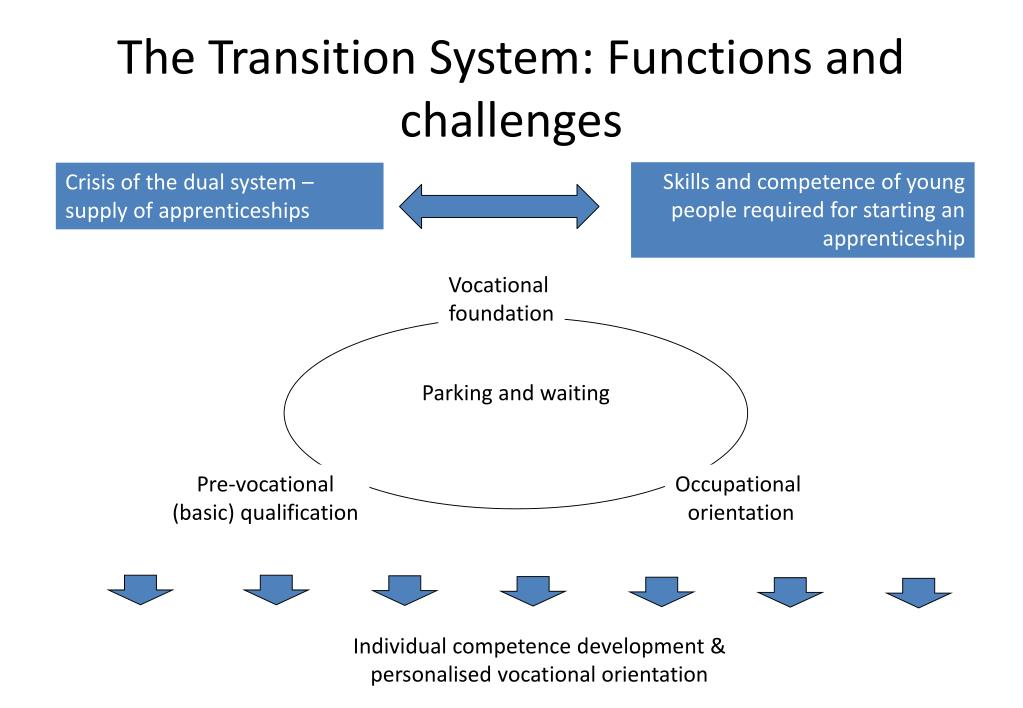 The Transition System: Functions and challenges