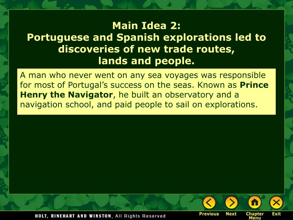 A man who never went on any sea voyages was responsible for most of Portugal's success on the seas. Known as