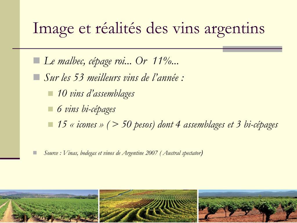 Image et réalités des vins argentins