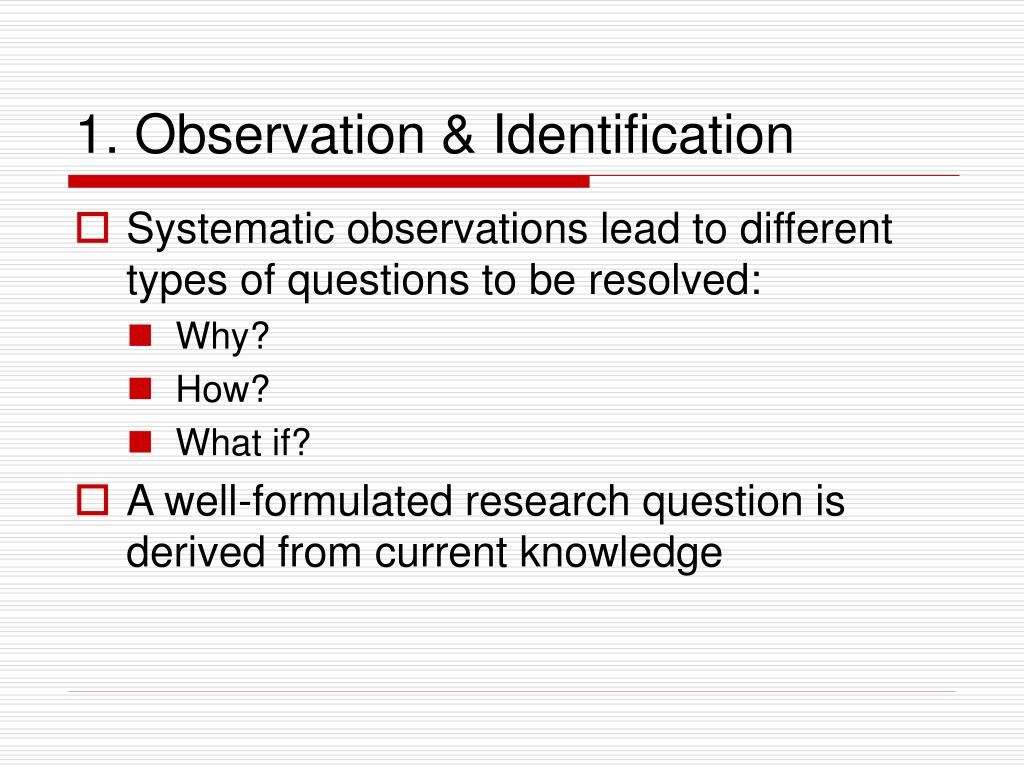 1. Observation & Identification