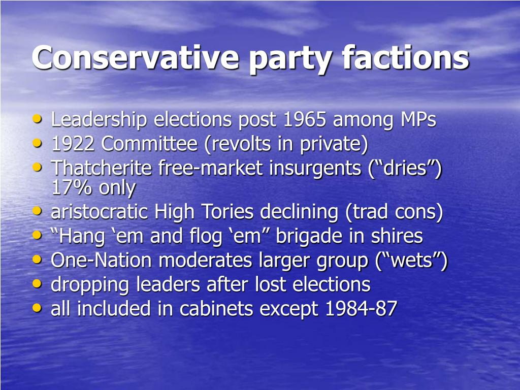 Conservative party factions