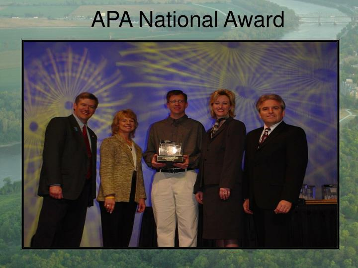 APA National Award