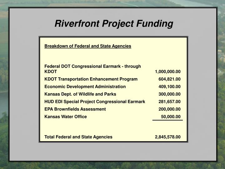 Riverfront Project Funding